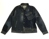 Reconstructed Denim Jacket-XL