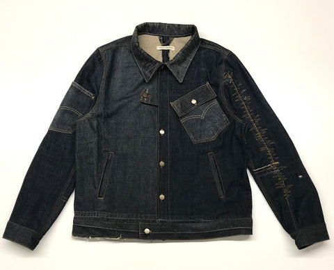Reconstructed Zig-Zag Denim Jacket