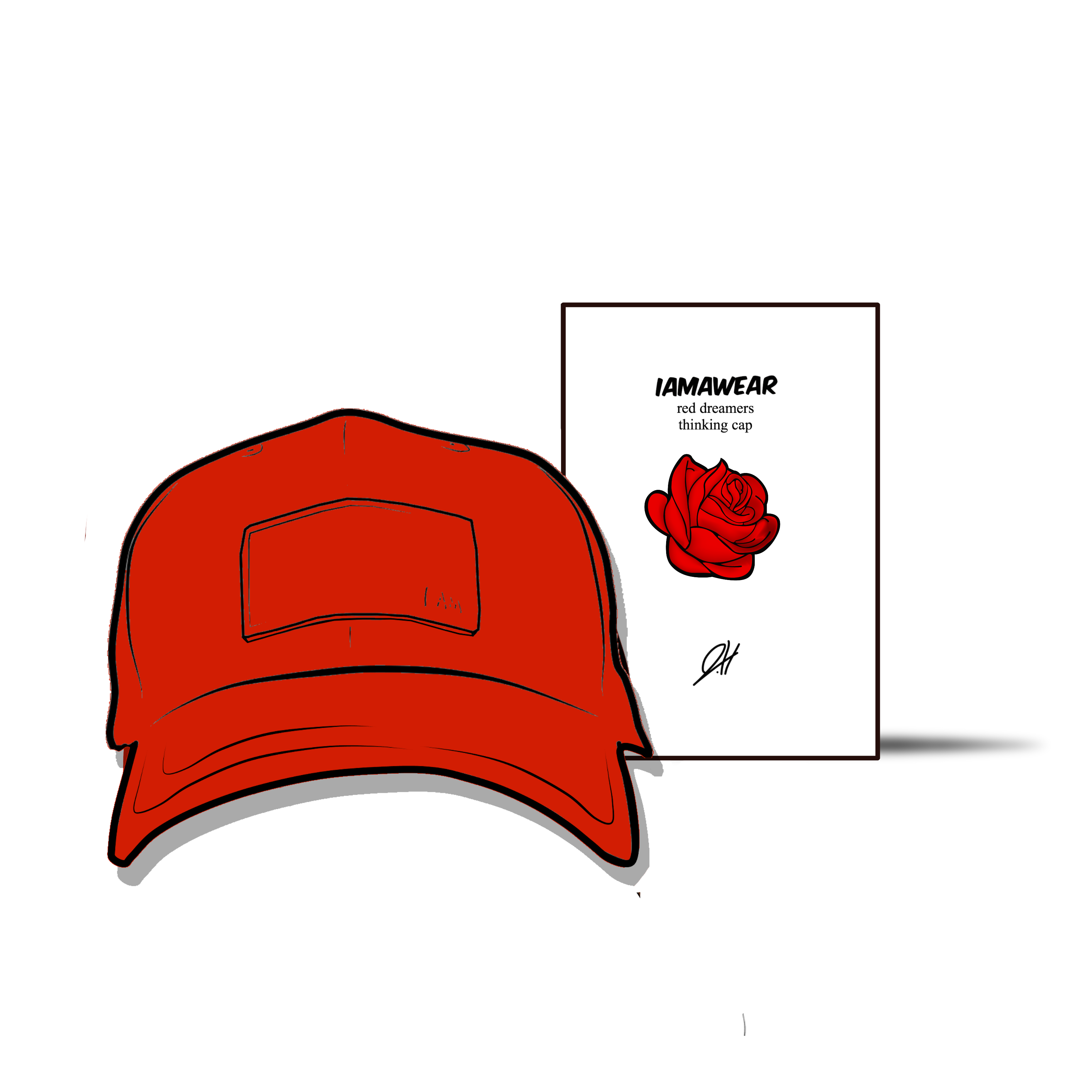 RED DREAMERS THINKIN' CAP - I Am Awear