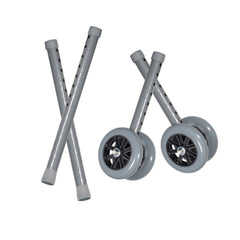 "Heavy Duty Bariatric Walker Wheels, with Extension Legs, 5"", 1 Pair"