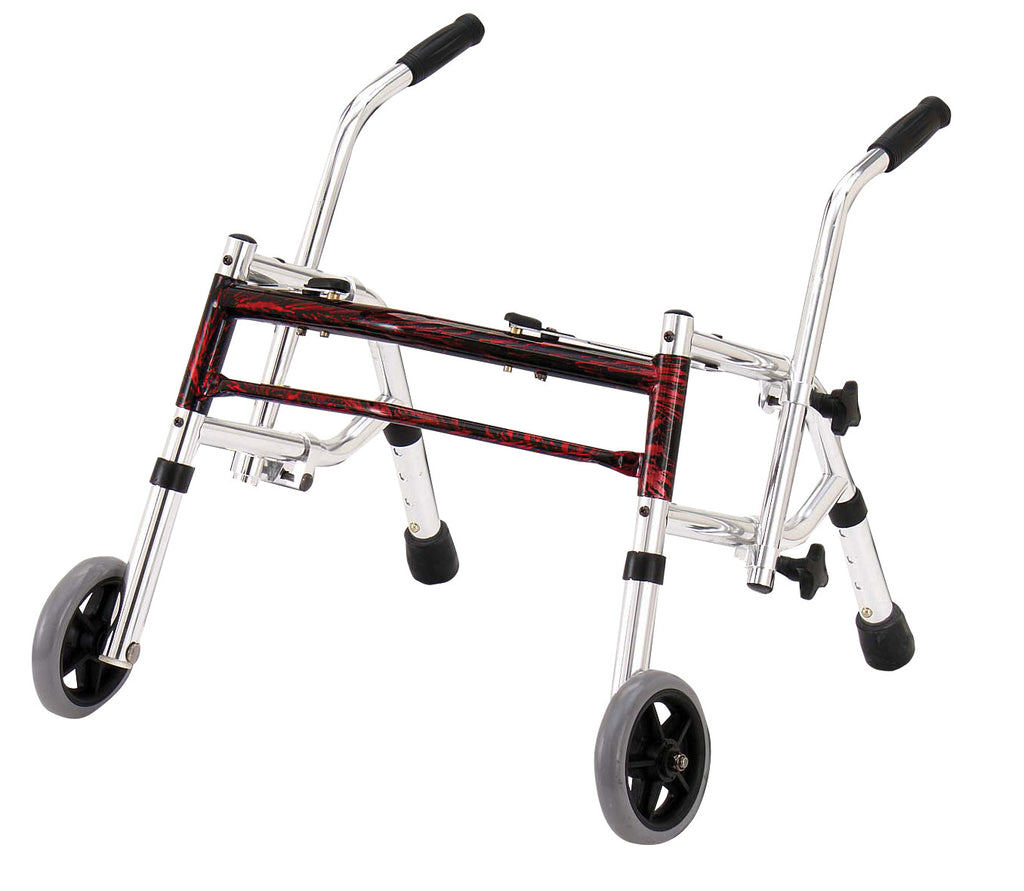 Glider Walker, Pediatric, Flame Red
