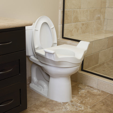 Locking Elevated Toilet Seat w/ Handles