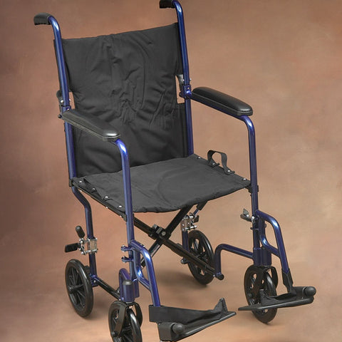 Norco Lightweight Transport Chair, Blue