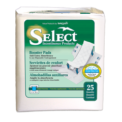 Tranquility Select® Incontinence Booster Pad Moderate Absorbency Fluff Unisex Disposable