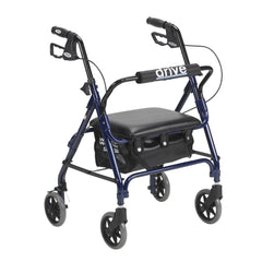 Junior Rollator with Padded Seat, Blue