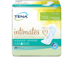 "Bladder Control Pad TENA® Intimates™Moderate 11"" Moderate Absorbency Dry-Fast Core™ Unisex Disposable"