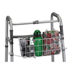 Nova White Universal Basket for Folding Walker with Liner