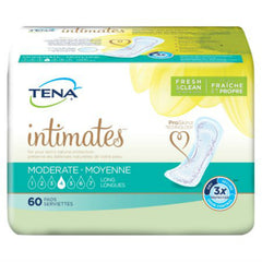 Bladder Control Pad TENA® Intimates™ Moderate Long 12 Inch Length Moderate Absorbency Dry-Fast Core™ Unisex Disposable