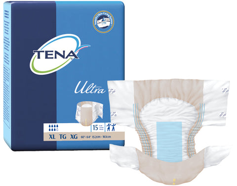 TENA® Adult Incontinent Brief Ultra Tab Closure X-Large Disposable Heavy Absorbency