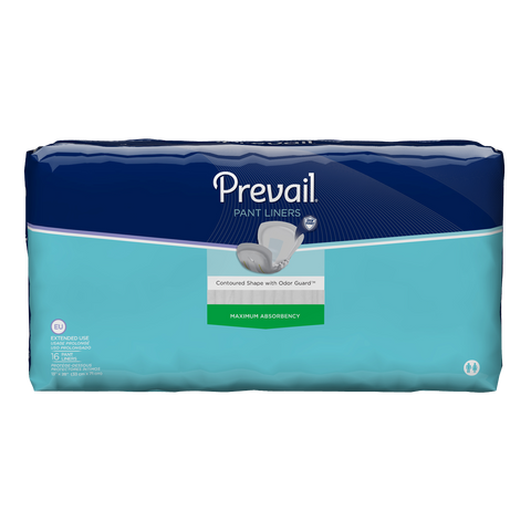 Prevail® Incontinence Liner 28 Inch Length Heavy Absorbency Unisex Disposable - Extended Use