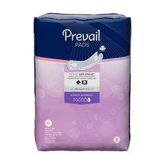 Prevail® Bladder Control Pad 16 Inch Length Heavy Absorbency Polymer Female Disposable