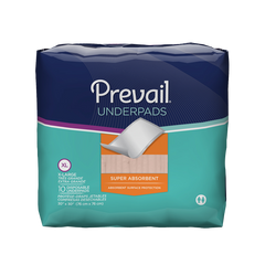 Prevail® Underpad 30 X 30 Inch Disposable Polymer Heavy Absorbency