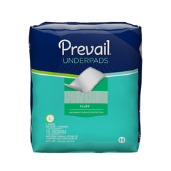 Prevail® Underpad Fluff 23 X 36 Inch Disposable Moderate Absorbency