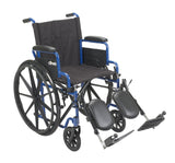 Blue Streak Wheelchair with Flip Back Desk Arms, Elevating Leg Rests