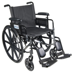 Cirrus IV Lightweight Dual Axle Wheelchair with Adjustable Arms, Detachable Desk Arms, Elevating Leg Rests