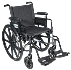 Cirrus IV Lightweight Dual Axle Wheelchair with Adjustable Arms, Detachable Desk Arms, Swing Away Footrests