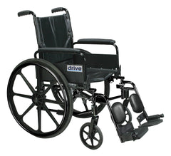 Cirrus IV Lightweight Dual Axle Wheelchair with Adjustable Arms, Detachable Full Arms, Elevating Leg Rests