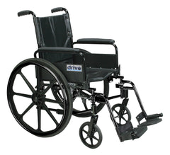 Cirrus IV Lightweight Dual Axle Wheelchair with Adjustable Arms, Detachable Full Arms, Swing Away Footrests