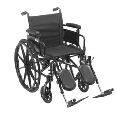 Cruiser X4 Lightweight Dual Axle Wheelchair with Adjustable Detachable Arms, Desk Arms, Elevating Leg Rests