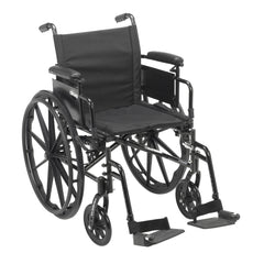 Cruiser X4 Lightweight Dual Axle Wheelchair with Adjustable Detachable Arms, Desk Arms, Swing Away Footrests