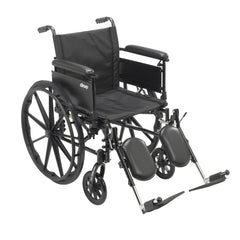 Cruiser X4 Lightweight Dual Axle Wheelchair with Adjustable Detachable Arms, Full Arms, Elevating Leg Rests