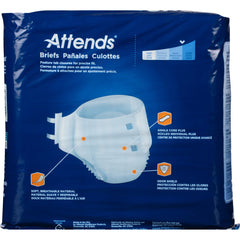 Attends® Adult Incontinent Brief Tab Closure Regular Disposable Heavy Absorbency