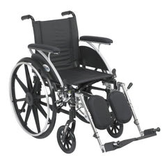 Viper Wheelchair with Flip Back Removable Arms, Full Arms, Elevating Leg Rests