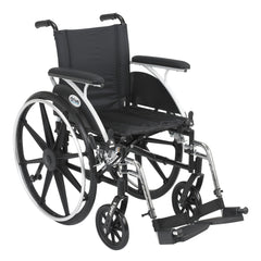 "Viper Wheelchair with Flip Back Removable Arms, Full Arms, Swing away Footrests, 16"" Seat"
