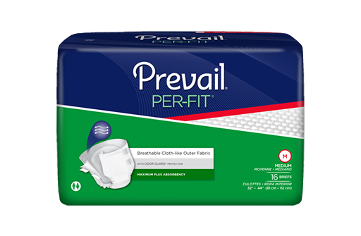 Prevail® Adult Incontinent Brief Per-Fit Tab Closure Medium Disposable Heavy Absorbency