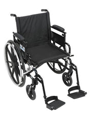Viper Plus GT Wheelchair with Flip Back Removable Adjustable Desk Arms, Swing away Footrests