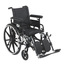 Viper Plus GT Wheelchair with Flip Back Removable Adjustable Full Arms, Elevating Leg Rests