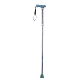 Folding Cane with Glow Gel Grip Handle, Celebration
