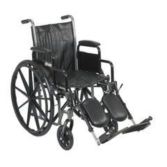Silver Sport 2 Wheelchair, Detachable Desk Arms, Elevating Leg Rests