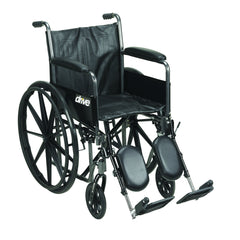 Silver Sport 2 Wheelchair, Detachable Full Arms, Elevating Leg Rests