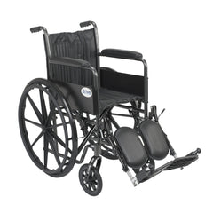 Silver Sport 2 Wheelchair, Non Removable Fixed Arms, Elevating Leg Rests