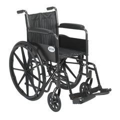 Silver Sport 2 Wheelchair, Non Removable Fixed Arms, Swing away Footrests
