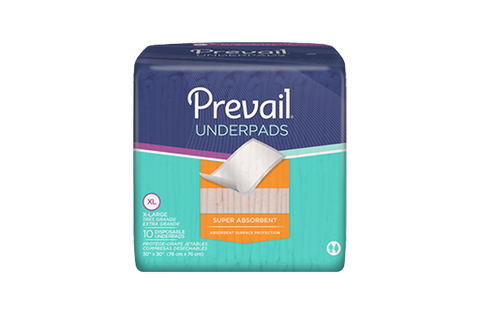 Prevail® Underpad 30 X 36 Inch Disposable Polymer Heavy Absorbency