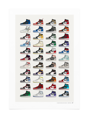 2020 Air Jordan 1 Collection<br>* UPDATED DESIGN *