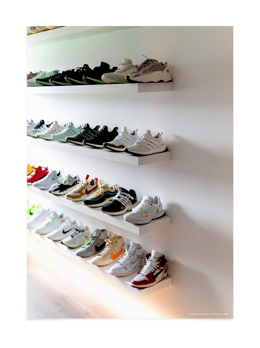 Sneaker Shelves<br>by @hypetobs