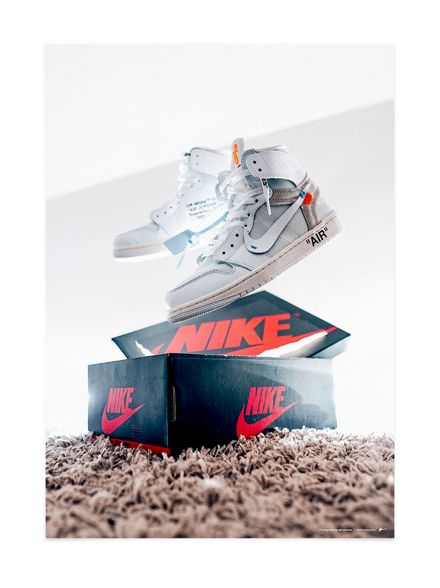 Off-White Jordan 1 - White<br>by @hypetobs