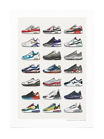 History of Air Max Collection<br>* 2020 UPDATED DESIGN *