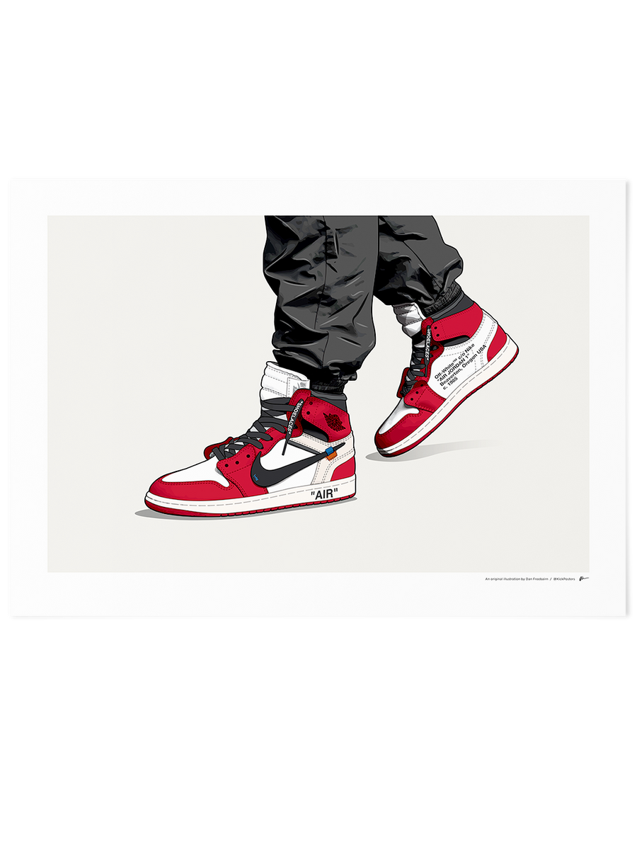 Off-White Jordan 1 Chicago<br>On-Foot Limited Edition