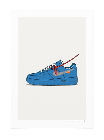 Off-White Air Force 1 Blue