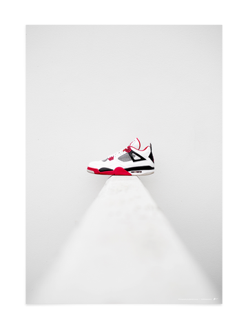 Jordan 4 Fire Red<br>by @ralphromeo