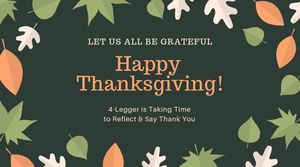 Happy Thanksgiving from 4-Legger Organic Dog Shampoo