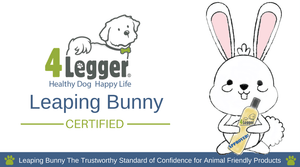 4-Legger is Leaping Bunny Certified Cruelty Free Dog Shampoo