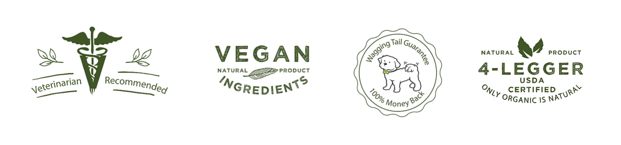 4-Legger is certified organic vegan veterinarian and groomer recommended and made with the highest quality ingredients