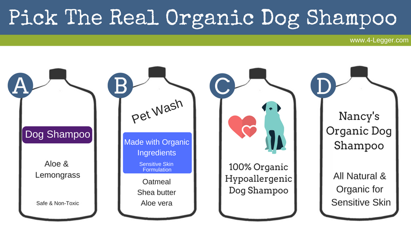 Can You Pick the Real Organic Dog Shampoo?