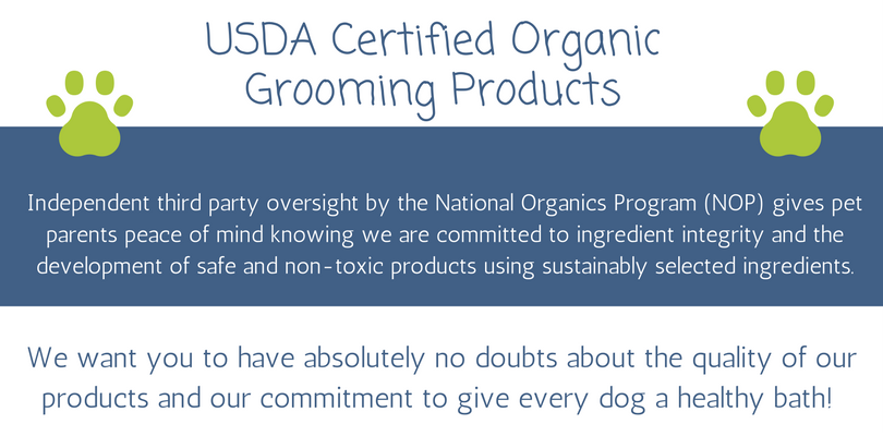 USDA Certified Organic Dog Shampoo