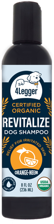 USDA Certified Organic Dog Flea Shampoo - Safe and Non-Toxic Alternative to Medicated Flea Shampoo